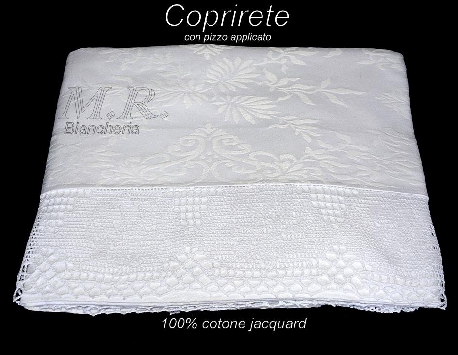 Coprirete letto matrimoniale tessuto jacquard con bordo in - Coprirete letto ...