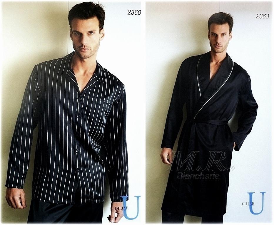 Vestaglia Da Camera Uomo : Completo uomo raso unito blu vestaglie e pigiama