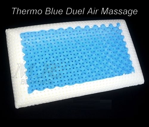 CUSCINO THERMO BLUE DUAL AIR MASSAGE SAPONETTA ALTEZZA 13 FODERA BAYSCENT
